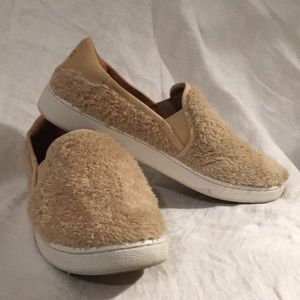 UGG fluffy sneakers—only worn once!